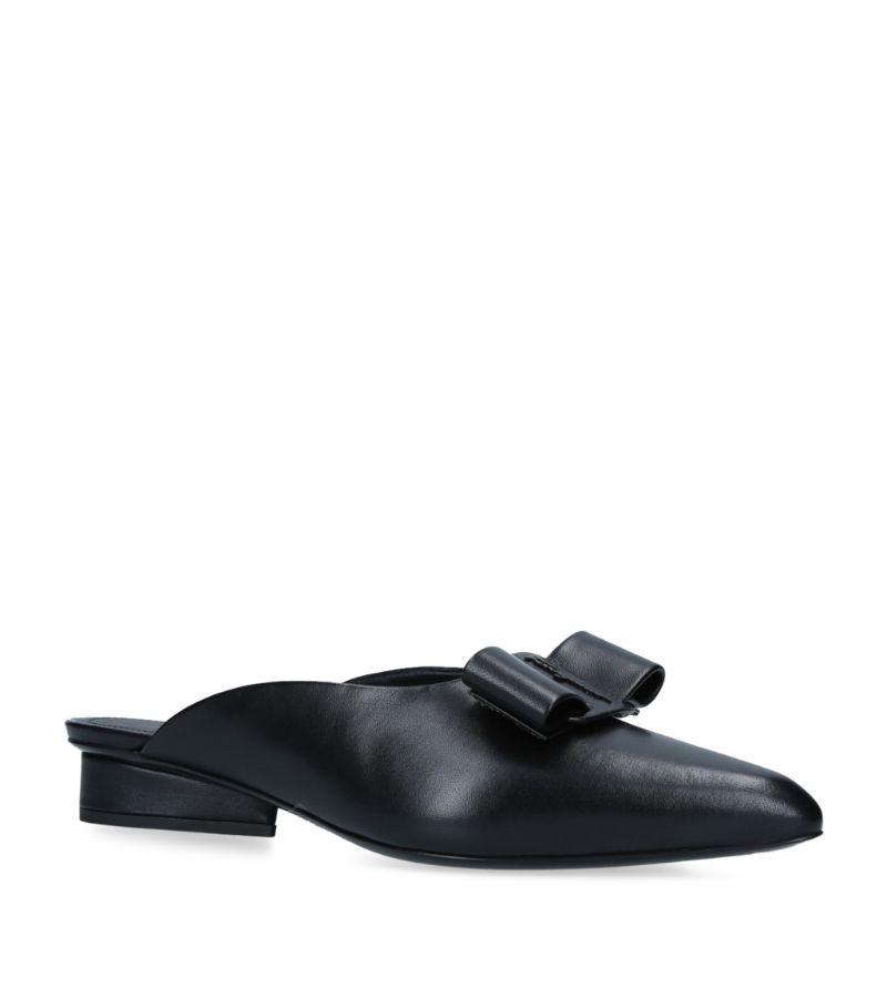 Salvatore Ferragamo Leather Viva Mules