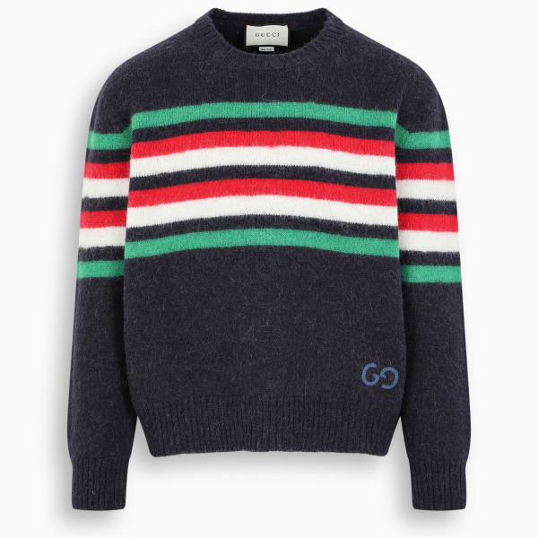 Gucci Striped GG patch sweater