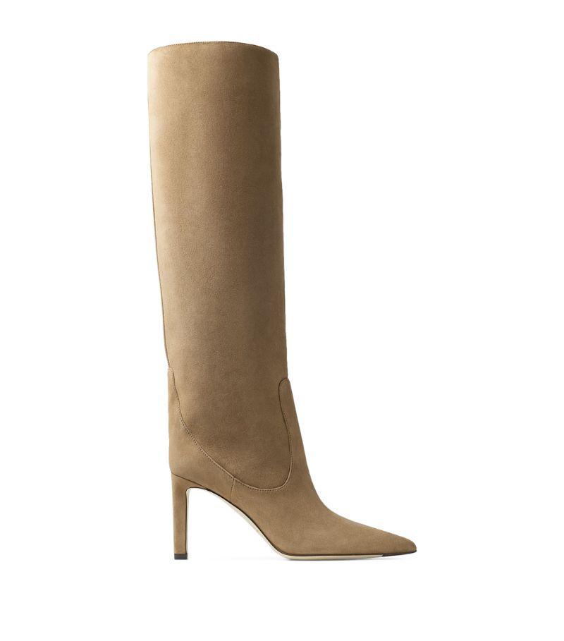 Jimmy Choo Mavis 85 Suede Knee-High Boots