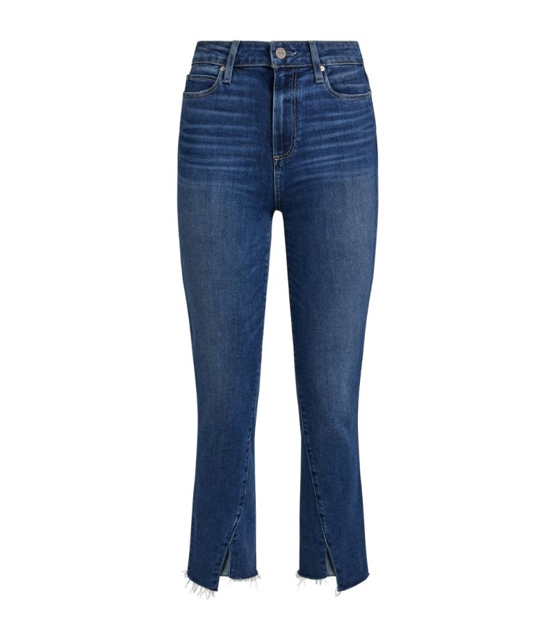 Paige Hoxton Cropped Slim Jeans