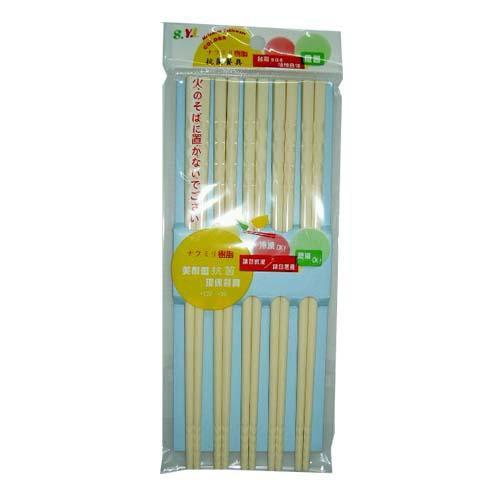 螺紋美耐筷5入-白色【愛買】