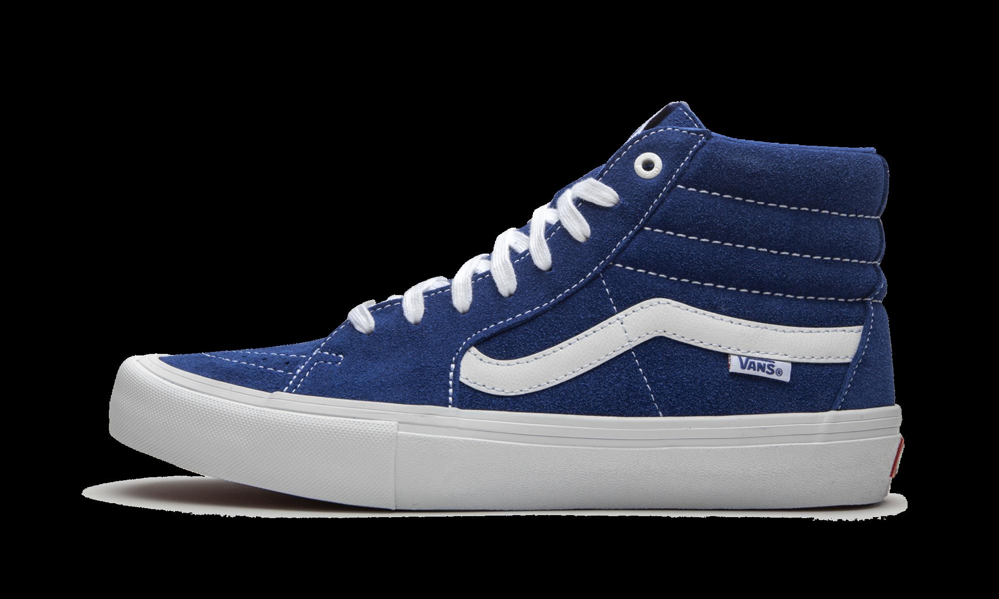 Vans Sk8-Hi Pro 'Blue Suede' Shoes - Size 11.5