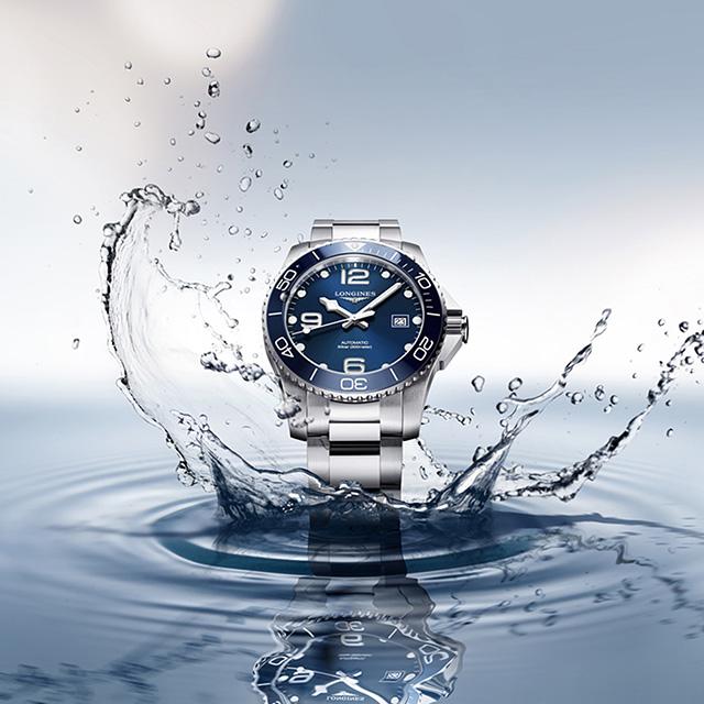 LONGINES 浪琴 深海征服者浪鬼陶瓷潛水機械錶-藍x銀/43mm L37824966