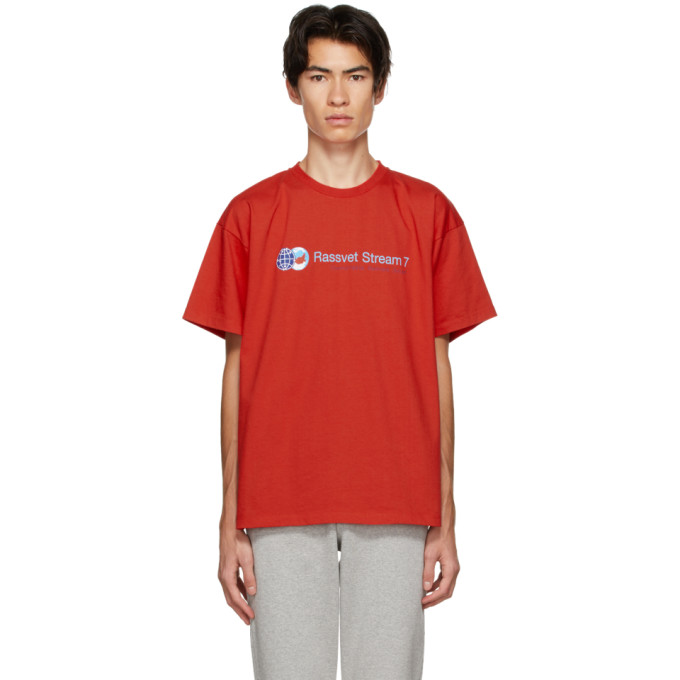 "Rassvet 红色""Stream 7""徽标 T 恤"