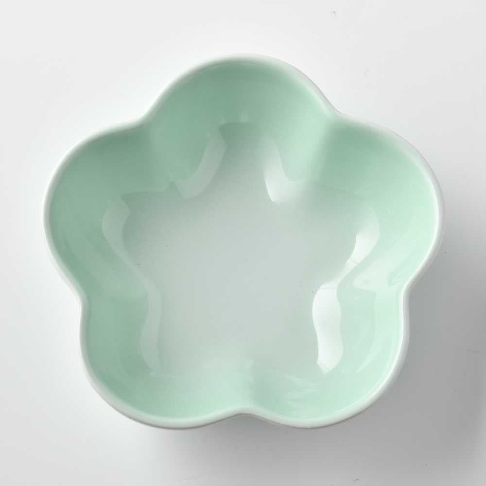 【法國LE CREUSET】 花型盤 陶瓷盤 菜盤 淺盤 點心盤 造型盤 小 冰川綠