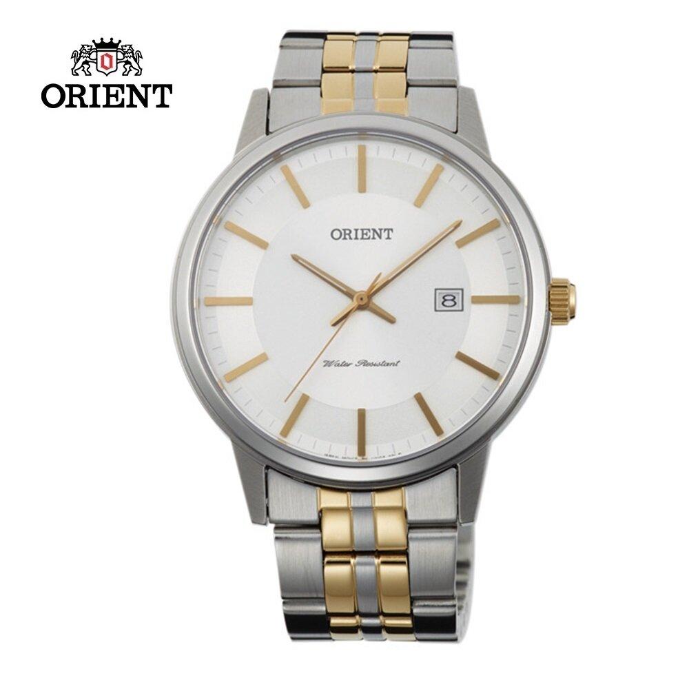 ORIENT 東方錶 PAIR系列 極簡藍寶石鏡面石英對錶 男生鋼帶款 FUNG8002W 白色 - 40mm