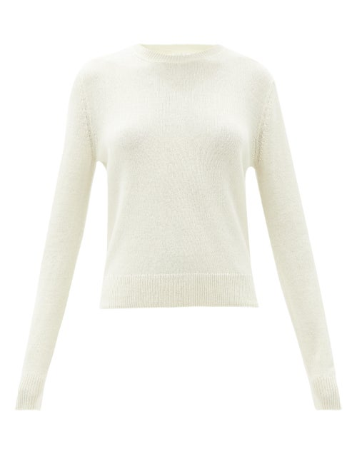 The Row - Arturo Cashmere Sweater - Womens - Light Yellow
