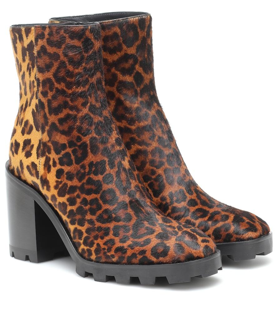 Mava 85 calf-hair ankle boots