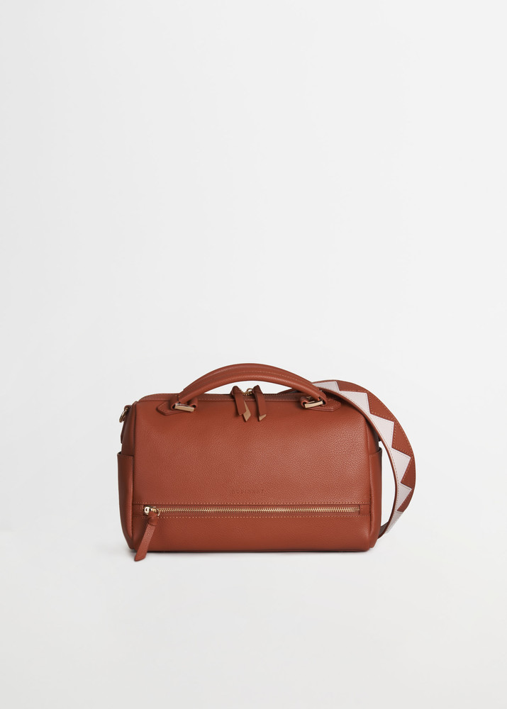 繡球幾何手提包