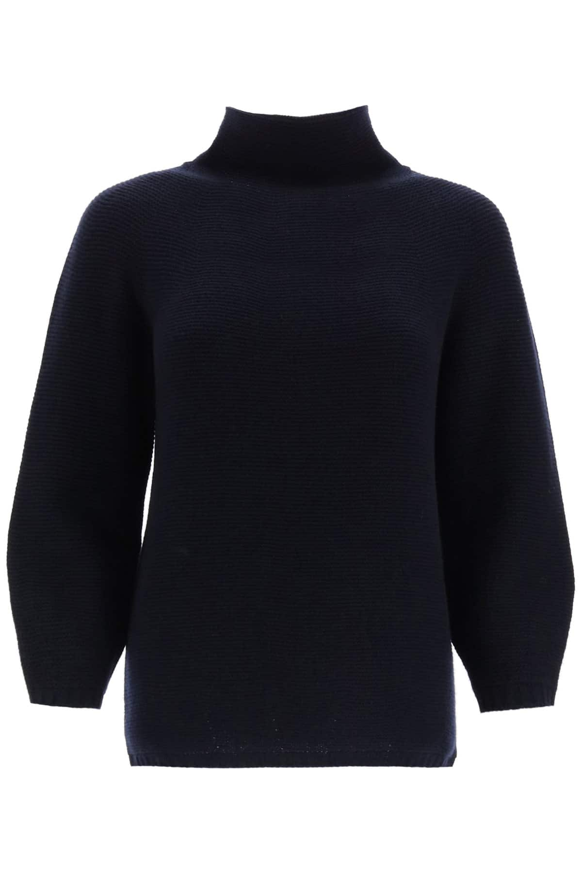 MAX MARA ETRUSCO SWEATER IN WOOL AND CASHMERE L Blue Wool, Cashmere