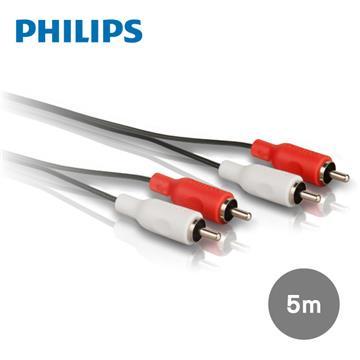飛利浦PHILIPS 5.0m 2RCA/2RCA立體音源線 紅白(SWA2524W/10)