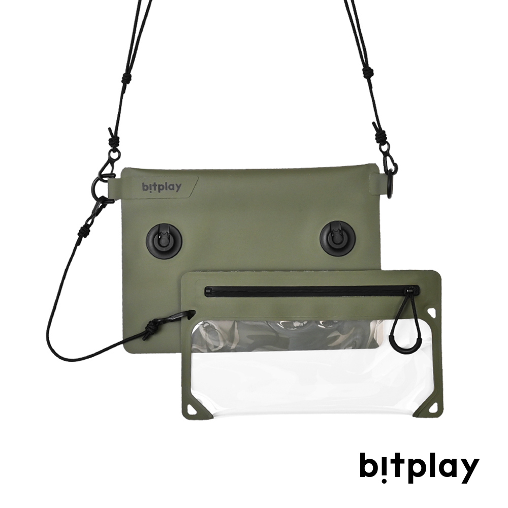 bitplay AquaSeal IPX7全境防水瞬扣包-荒野綠