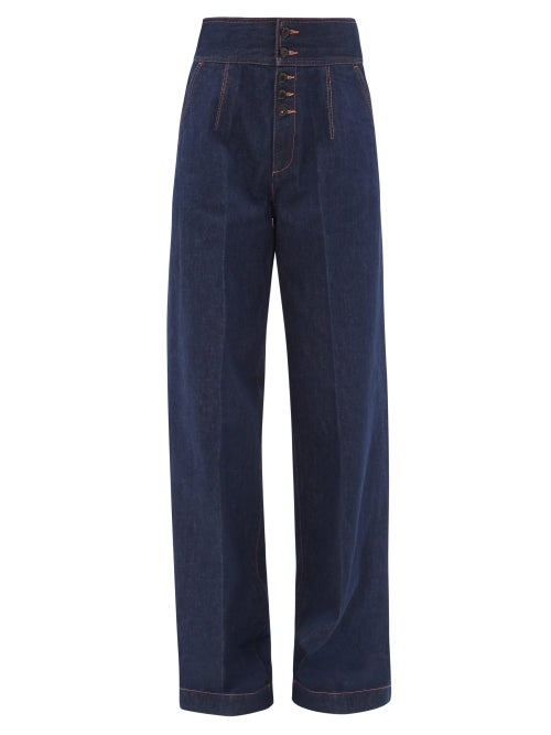 Made In Tomboy - Felisa High-rise Wide-leg Jeans - Womens - Dark Denim