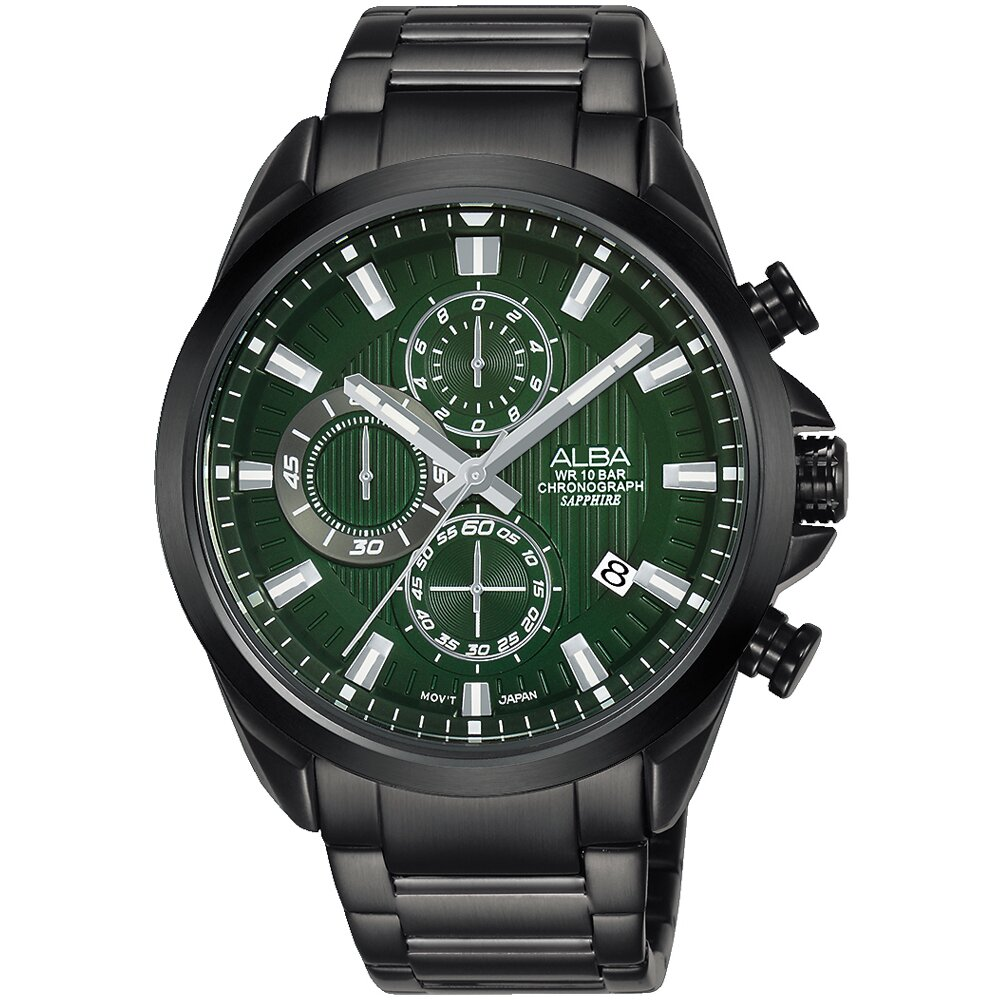 ALBA 雅柏 台灣限定款三眼計時錶/44mm (VD57-X187G/AM3819X1)