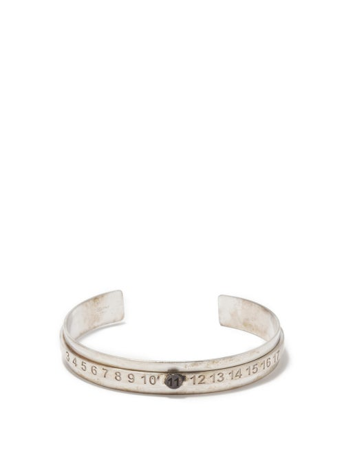 Maison Margiela - Number-engraved Sterling-silver Bracelet - Mens - Silver