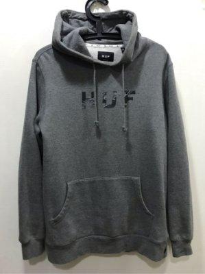 HUF Camo Logo Hoodie Black 帽Tee 灰色 S+黑色S