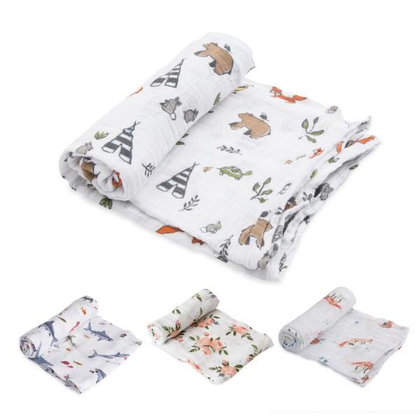 美國 Little Unicorn 純棉紗布巾單入組/包巾(4款可選)【麗兒采家】