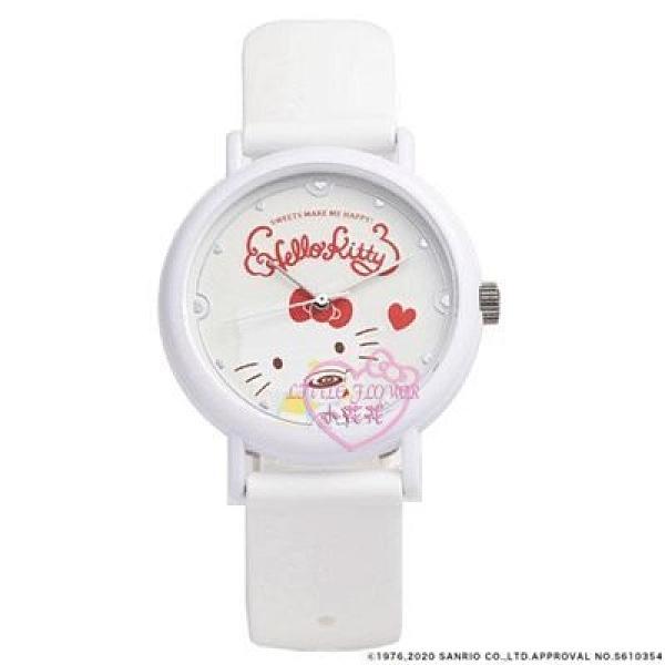 小花花日本精品HelloKitty粉色白色下午茶造型手錶淑女錶大人小孩皆宜22025401