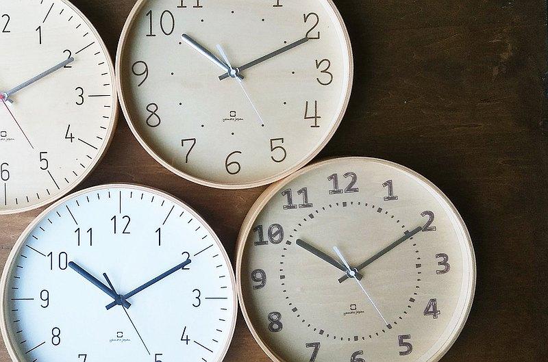 日本 yamato japan 純手工木製 FULLMOON 靜音時鐘