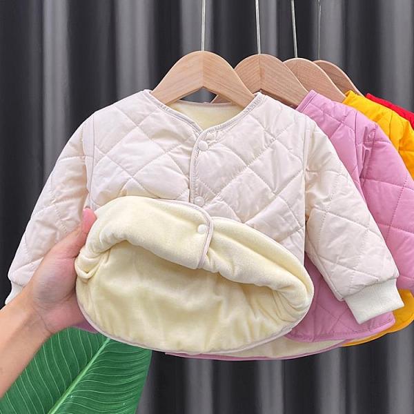 女童棉服 嬰兒加絨加厚保暖棉服內膽小童寶寶棉襖女童男童棉衣內搭短款歲-Ballet朵朵