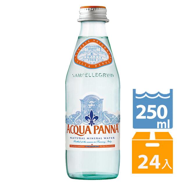 全省免運 普娜天然礦泉水250ml x 24瓶(玻璃)義大利 普娜 進口水 西餐 野餐 咖啡 免運