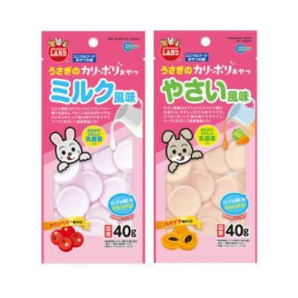 日本marukan-小動物風味乳酸菌-木瓜/蔓越莓40g(81291670/81291671