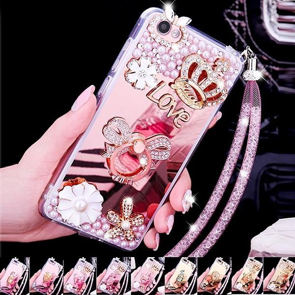 蘋果 iphone 12 pro max 11 pro max i12 mini se xs max xr i8+ 多圖款 珍珠 水鑽 支架殼 手機殼 鏡面 軟殼 保護殼