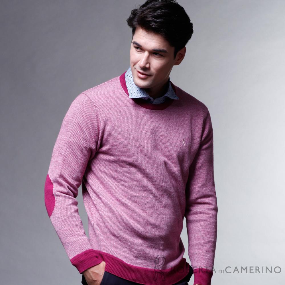 ROBERTA諾貝達  時尚型男 100%純美麗諾羊毛衣 紅色