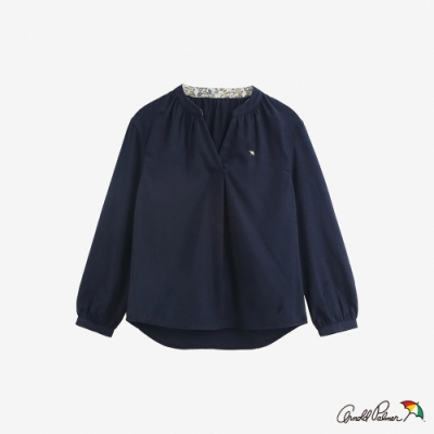 Arnold Palmer -女裝-磨毛半開襟上衣-深藍色