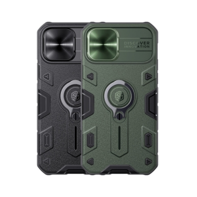 NILLKIN Apple iPhone 12/12Pro 黑犀保護殼(金屬蓋款)