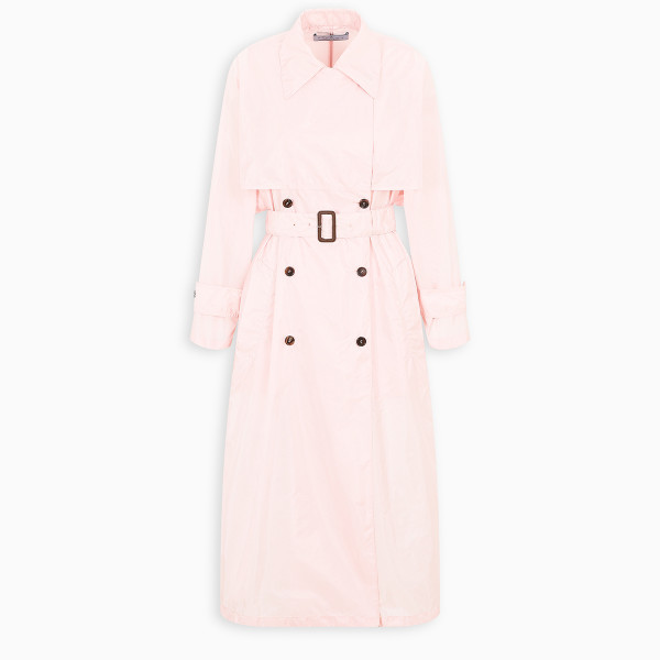 Prada Pink tec fabric trench
