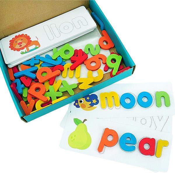 益智玩具 英文拼字 字母書寫早教學習組 拼圖 字卡-JoyBaby