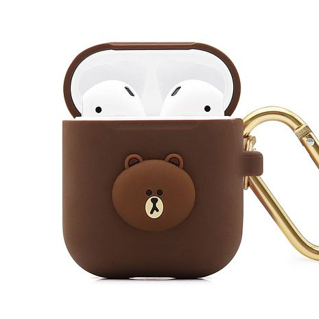 GARMMA LINE FRIENDS AirPods 1&2代 藍芽耳機盒保護套 熊大