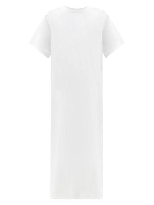 The Row - Aprile Side-slit Cotton-jersey T-shirt Dress - Womens - Ivory