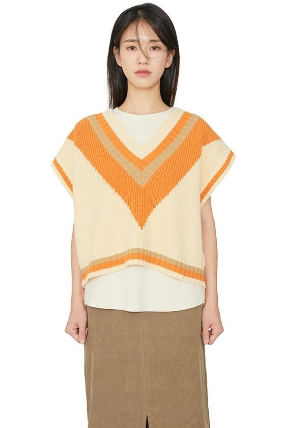 韓國空運 - Peak Color Matching Best Knit Top 套裝