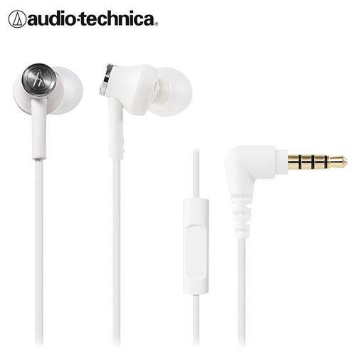 鐵三角智慧型手機用耳塞式耳機ATH-CK350iS - 白【愛買】