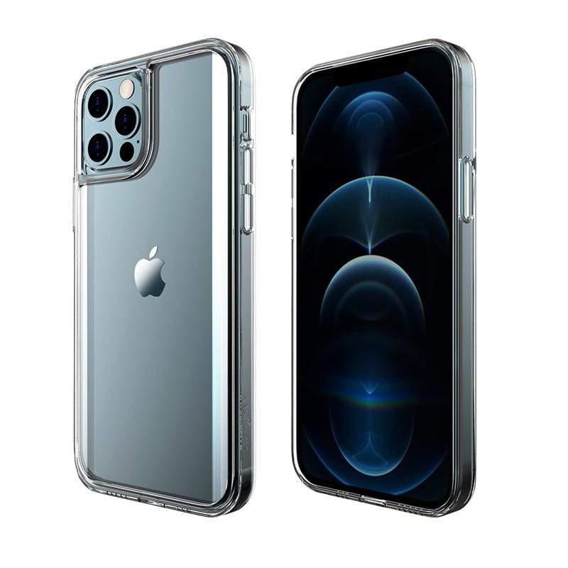 【現貨熱賣供應中】LINKASEPRO Apple iPhone 12 / 12 Pro (6.1吋)專用 軍規防摔9H耐衝擊大猩猩曲面玻璃ADM抗黃專利塑料Ag+銀離子抗菌保護殼-不思議激淨透 iP