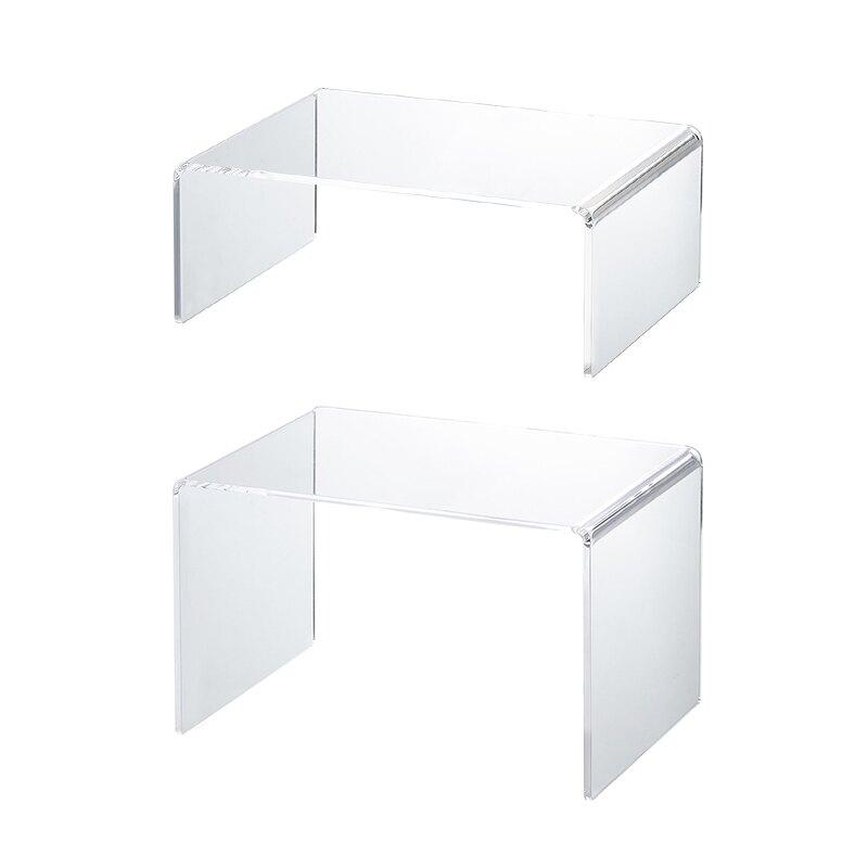 霜山亞克力化妝品置物架收納架桌面透明塑料分隔架手辦展示架 雙十一