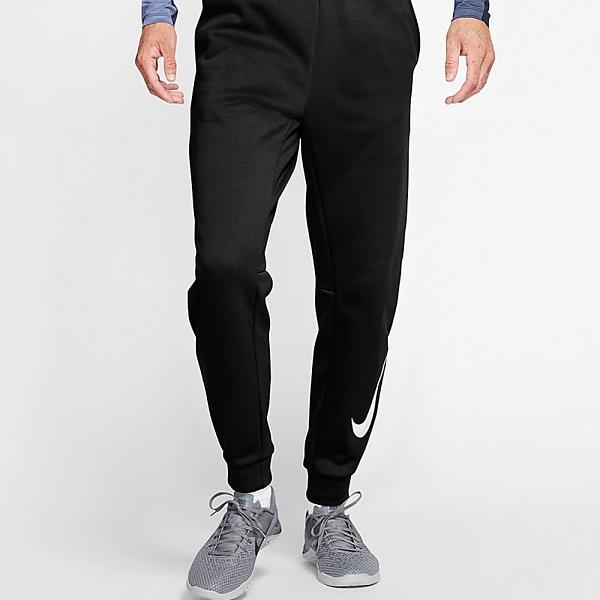 NIKE服飾系列-THERMA PANT TPR SWOOSH 男款黑色窄管長褲-NO.932258010