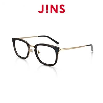 【JINS】 紳士眉框眼鏡(特AMRF18S030)木紋深灰