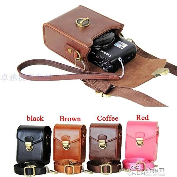 相機保護 佳能G7X3G5X2索尼RX100M6黑卡7皮套松下LX10理光GR2/3相機包 好樂匯