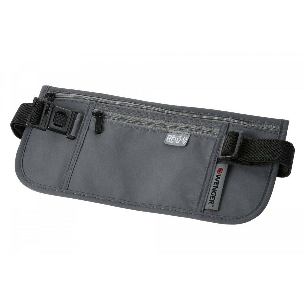 瑞士 WENGER 威戈 貼身腰包 RFID防盜包 隱形腰包 防搶包 604588 (灰色)