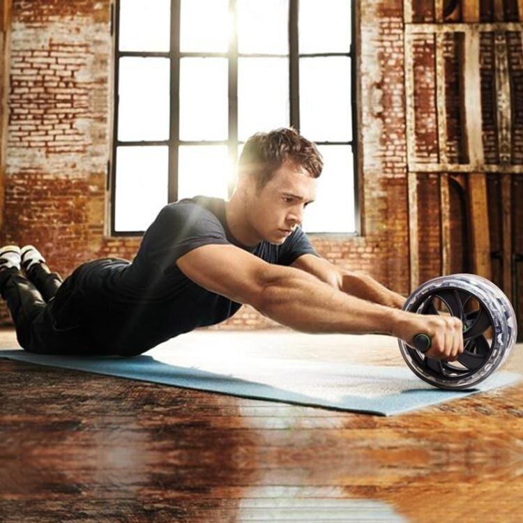 健腹輪 男士健身器材家用回彈捲腹輪滾輪收腹初學腹健輪鍛煉腹肌輪
