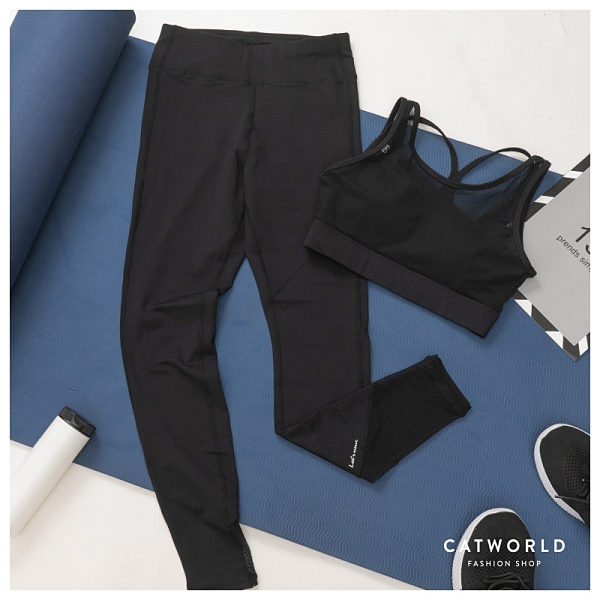 Catworld 純粹魅力。BRA背心加長褲運動套裝兩件組【16600600】‧S/M/L