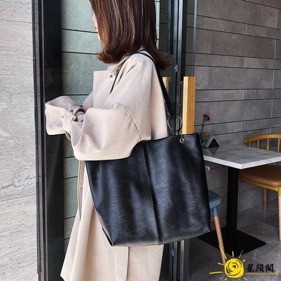 網紅單肩大包包女2020新款潮韓版百搭大容量軟面斜挎包時尚托特包