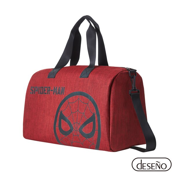 Deseno 正版授權 Marvel 漫威 蜘蛛人 輕量 可插拉桿旅行袋 購物袋 (紅蜘蛛)