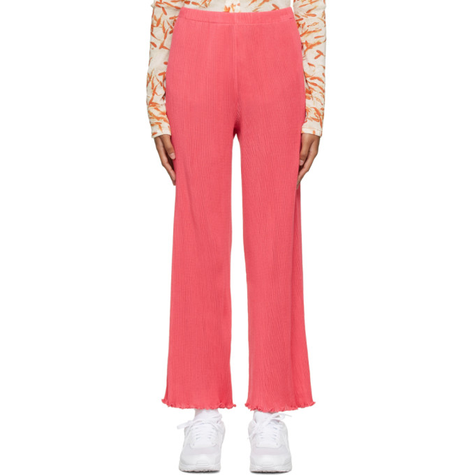 PRISCAVera 粉色 Seamless 褶裥长裤