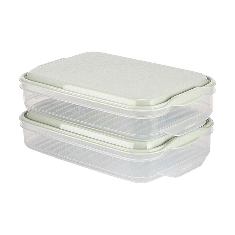 樂扣樂扣家用冷凍餃子盒大容量密封冰箱塑料 雙11狂歡