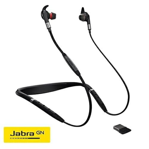 Jabra Evolve 75e UC認證頸掛式藍牙抗噪耳機麥克風