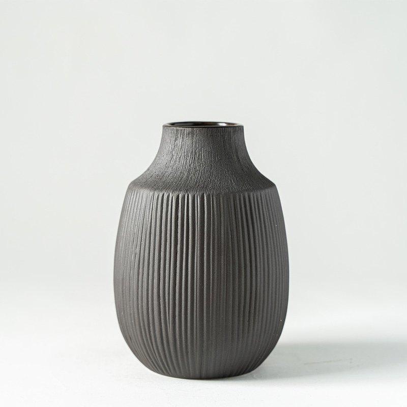 花器/花瓶  深棕雙紋小花瓶